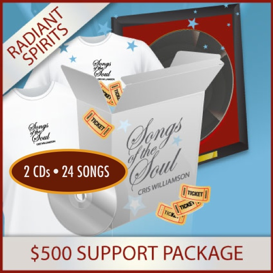 "C) $500 ""SONGS OF THE SOUL"" SUPPORT PACKAGE"